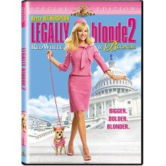Legally Blonde 2 Red White and Blonde starring: Reese Witherspoon, Luke Wilson, and Sally Field