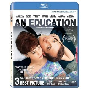 An Education starring: Carey Mulligan, Peter Saarsgard, Rosamund Pike
