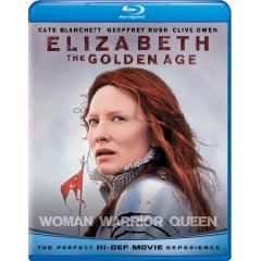 Elizabeth: The Golden Age starring: Cate Blanchett, Clive Owen , and Geoffrey Rush
